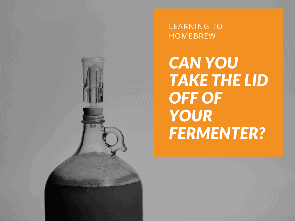 can you take the lid off of your fermenter